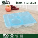 Rechteckiger 6 Fach-Wegwerfplastiknahrungsmittelbehälter mit Kappe (1000ml)