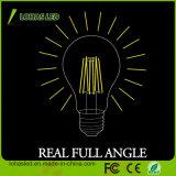 Luz de bulbo de cristal del filamento de la cubierta LED del poder más elevado 2W-8W