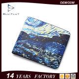 Kundenspezifische Farben-Kreditkarte-Bifold Mappen-echtes Leder-Mann-Fonds