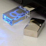 Novo Crystal LED Light USB Flash Stick com Logotipo Laser (759)