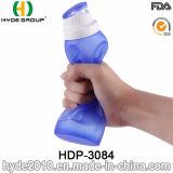 2017旅行BPAは放すプラスチックスポーツの水差し、シリコーンプラスチックスポーツの水差し(HDP-3084)を