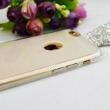 Cute Long Ear Rabbit 3D Bling Crystal Ears TPU Housse en douceur pour Apple iPhone 6s Plus 5.5 / iPhone 6 Plus 5.5 pouces