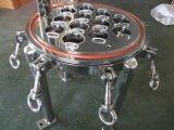 Depuratore di acqua, custodia di filtro precisa dell'acqua della cartuccia sanitaria dell'acciaio inossidabile pp di stile della flangia