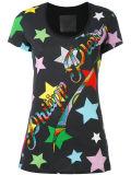 다이아몬드를 가진 Fastory 숙녀의 인쇄한 t-셔츠는 꾸몄다
