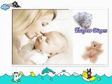 Absorbencia y respirable con el pañal disponible del bebé de la cintura de la venda de la marca de fábrica grande de Ecofree