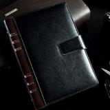 Alta qualidade de capa dura PU impressão de notebook de couro