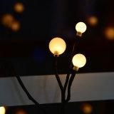 Der Kunst-2017 Speicher-Taschenlampen-verzieren handgemachte vornehme polnische Kugel-Schwarz-Rattan-Lampe der Niederspannungs-2.5m 72LED des Haushalts-LED LED helle LED