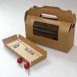 Boîte à papier Kraft avec fenêtre Macaron Conditionnement Biscuit Cake Box Muffin Paper Box