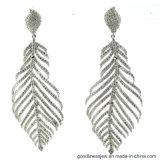 925 Silver Earring с пером формы (E6132)