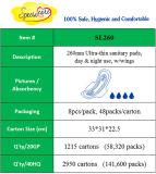 260mm ultra dünne Dame gesundheitliche Auflage mit trockener Oberfläche für Tagesgebrauch