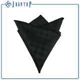 Quadrato/fazzoletto della casella della seta del nero 100% degli uomini di modo