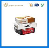 Boîte en carton ondulé estampée par coutume en gros bon marché (concevoir en fonction du client)