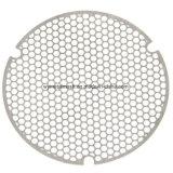 Uma placa metálica perfurada folhas tela de trabalho e a tela do filtro de vácuo