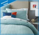 すみれ色の固体印刷されたポリエステルによってキルトにされるベッドカバーセット