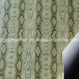 뱀 지상 이중 면 PU 신발 가죽 (QDL-SP042)