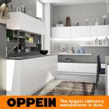 Armadio da cucina di legno della lacca opaca grigia bianca moderna di Oppein (OP16-L18)