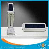 太陽折る電気スタンド、満たされた2 PCSの携帯電話、クロックと、温度、日付