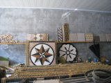 Carrelage de mosaïque, mosaïque ronde de pierre de marbre de configuration