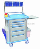 AG-At001A1 Ce & ISO 4 ruedas Cuatro columnas de aluminio Trolley de hospital