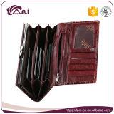 Крокодиловой кожи повелительницы Кожи Бумажника способа бумажника женщин Fani бумажник оптовой изготовленный на заказ длинний