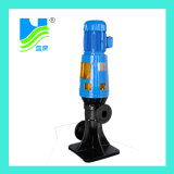 Pompe à eau d'égout verticale de plan horizontal