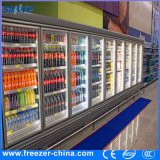 - congelador de cristal vertical de la puerta de Multideck del grado 18 a -22 para el alimento congelado