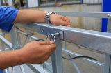 Revêtement en poudre Zlp800 de l'acier revêtement Berceau de la construction de pulvérisation