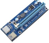 Bitcoin Litecoin를 위한 16X USB 3.0 증량제 라이저 접합기 카드 006c에 PCI-E 1X