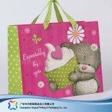 Sac de transporteur de empaquetage estampé de papier pour les vêtements de cadeau d'achats (XC-bgg-041)