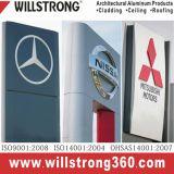 Panneau composé en aluminium de Shopfront de décoration rouge lustrée de signe