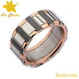 Str008優雅な流行のスムーズな緑の金の指輪