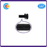 Vis en acier de tête de carter de vis de rondelle de ressort de zinc de noir d'acier du carbone