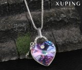 43357 Fashion Heart Design Lock Crystals From Swarovski Jewelry Pendant Necklace