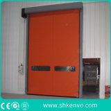 Собственная личность ткани PVC ремонтируя высокоскоростное быстро свертывает вверх дверь для пакгауза