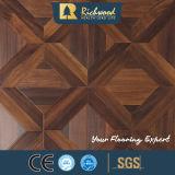 Pavimentazione orlata del laminato incerata noce di legno del teck di struttura della venatura del legno della plancia del vinile