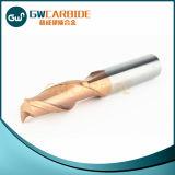 Molino de extremo revestido de las flautas sólidas del carburo 1/2/3/4/5/6 del tungsteno del CNC