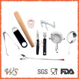 Ws-C01 Custom Logo 5-Pieces 350ml de aço inoxidável Cocktail Shaker Bar Set