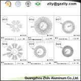 Dissipatore di calore di alluminio dell'espulsione dello SGS per vario materiale da costruzione a forma di