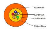 2 a 48 Core Sm / mm OM3 / OM4 Breakout Inoor cable de fibra óptica con la fibra Corning