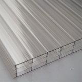 Folha oca Anti-UV high-density de Multiwall do policarbonato para 16mm