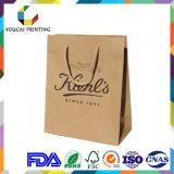 Bolso de compras barato del papel de Kraft con la maneta de papel para Suppermarket
