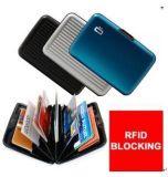 El bloqueo de la tarjeta RFID Alumunim crédito de la carpeta Holder