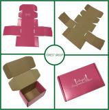 Caixa de empacotamento de papel cor-de-rosa Foldable por atacado feita sob encomenda (FLORESTA que EMBALA 021)