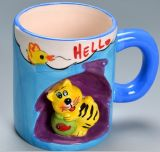 Смешной кружка штейнгута 3D шаржа изготовленный на заказ керамической персонализированная чашкой