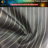 Guarnición negra del juego, tela teñida hilado de la raya del poliester para la ropa (S18.20)