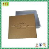 Recicl a caixa de presente do cartão do papel de embalagem Com base e tampa