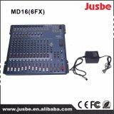 16 controllo matrice professionale del miscelatore MD16/6fx DSP della Manica audio