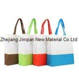 Tela não tecida Eco-Friendly personalizada de HOME-Matéria têxtil para o saco de compra