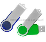Nuevo palillo del flash del USB de la luz cristalina LED con la insignia del laser (759)