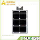 PIR 센서를 가진 1개의 태양 가로등 통합 LED 정원 빛에서 8W 전부